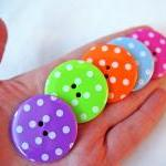 5 Big Spotty Buttons- In 5..